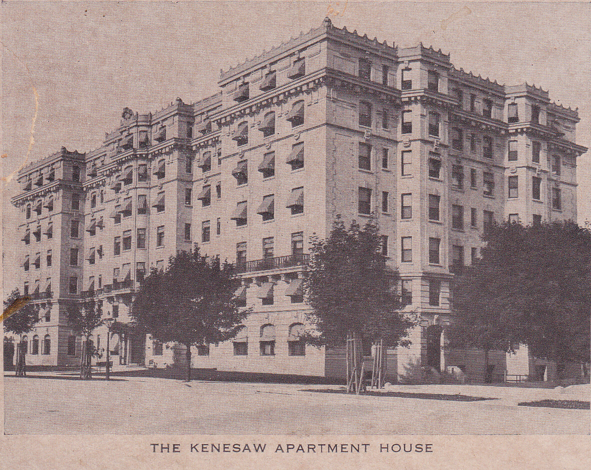 The House History Man The Kenesaw Apartment Building At And