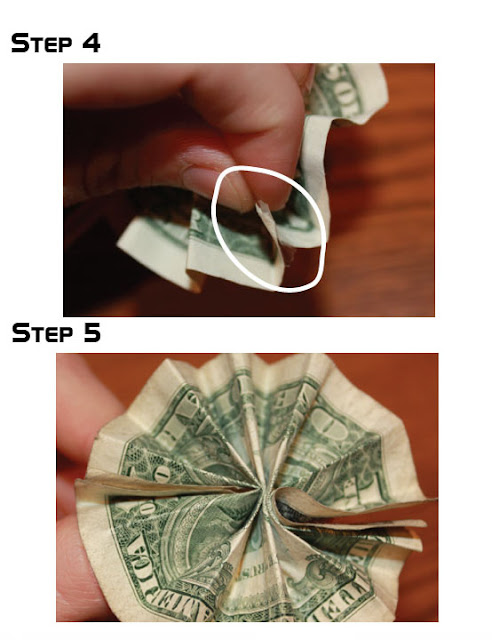flowers-dollar-paper crafts