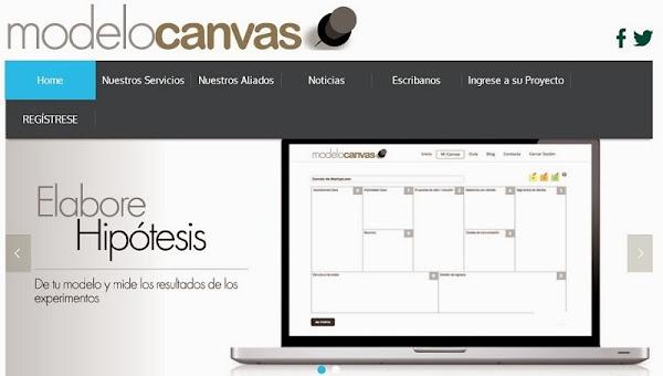 Aplicación modelo canvas