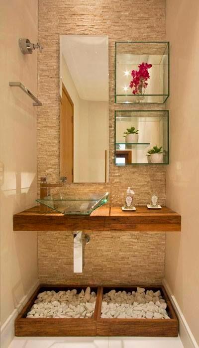 imagens decoracao lavabo : imagens decoracao lavabo:Um Pequeno & Charmoso Lavabo ~ Senhora Inspiração! Blog