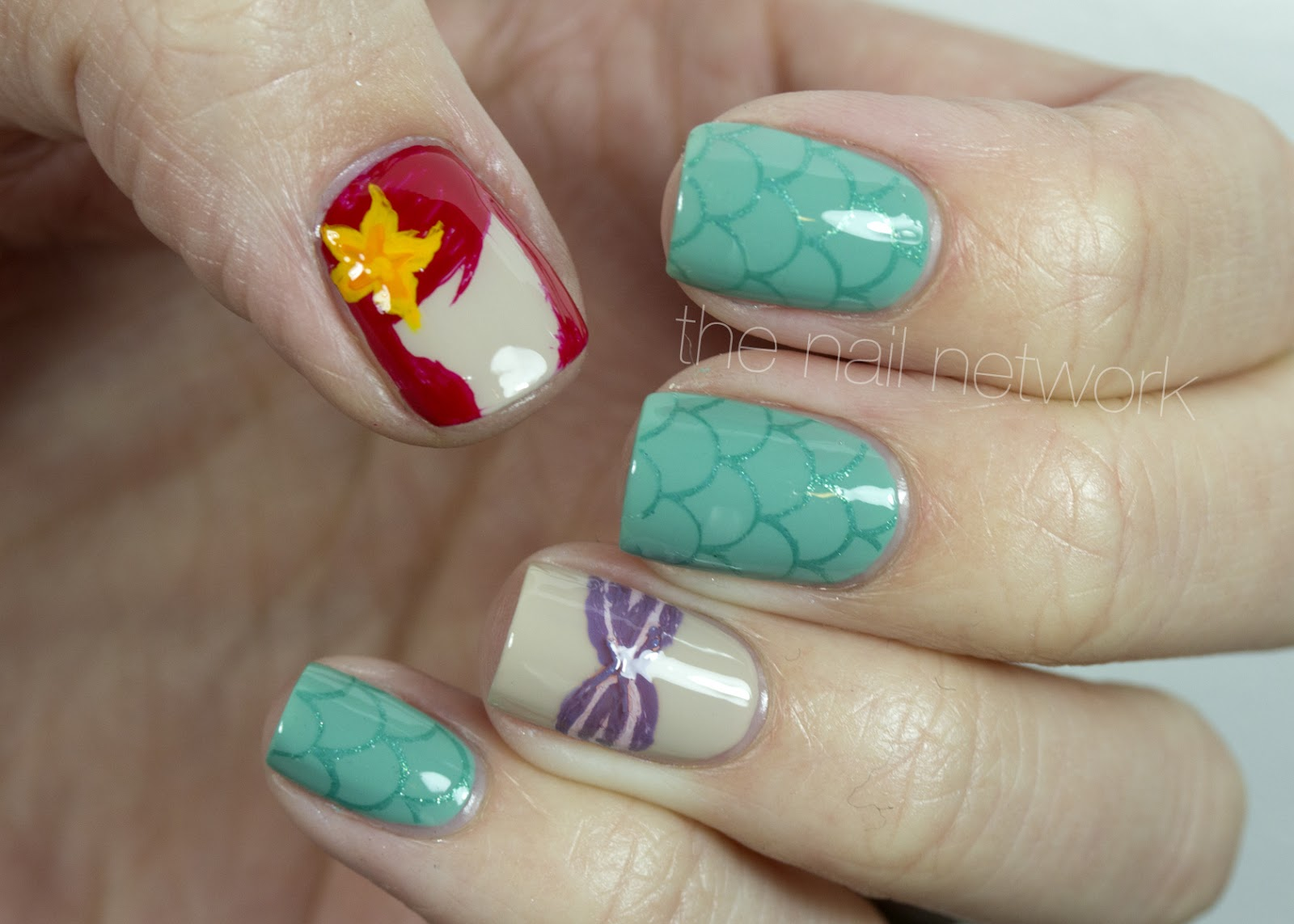 For The Mermaid Tail Nails