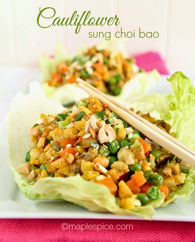 Cauliflower Sung Choi Bao - vegan and gluten-free recipe