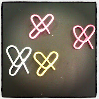 heart-shaped paperclips