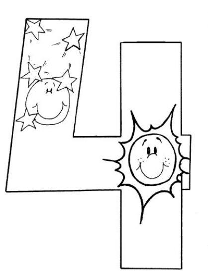 Dibujos Cristianos Para Colorear: Dibujo del Cuarto Dia de La ...
