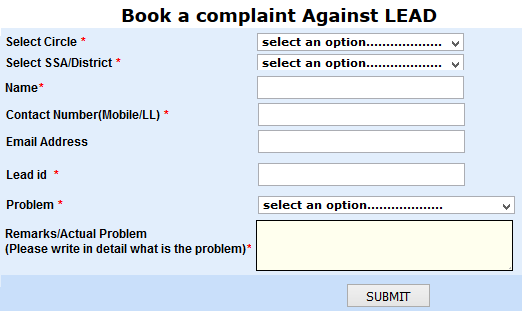 BSNL Complaint Portal for New Connection Lead IDs not Responded