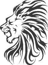 Motif Tato Singa Hitam Putih 29