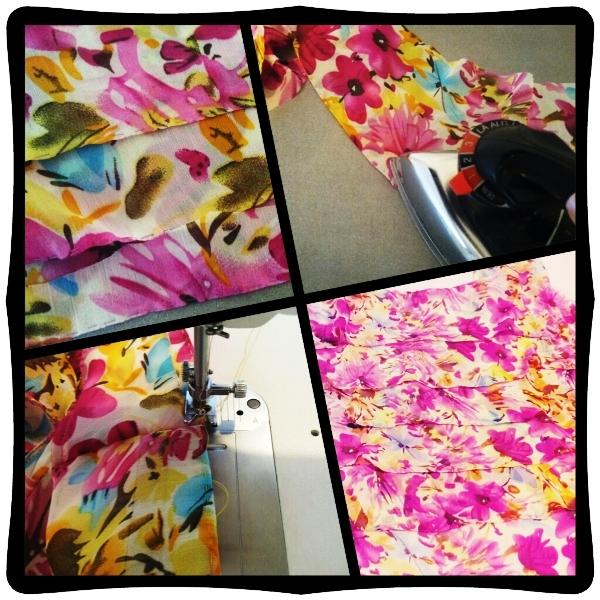 moda estio corte costura moldes blusa tecido chifom babados estampas bainha de lenço