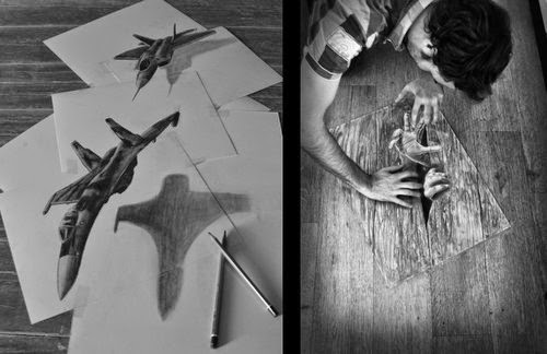 13-Modern-Dogfight & Trapped-In-The-Floor-Optical-Illusionism-Ramon-Bruin-www-designstack-co
