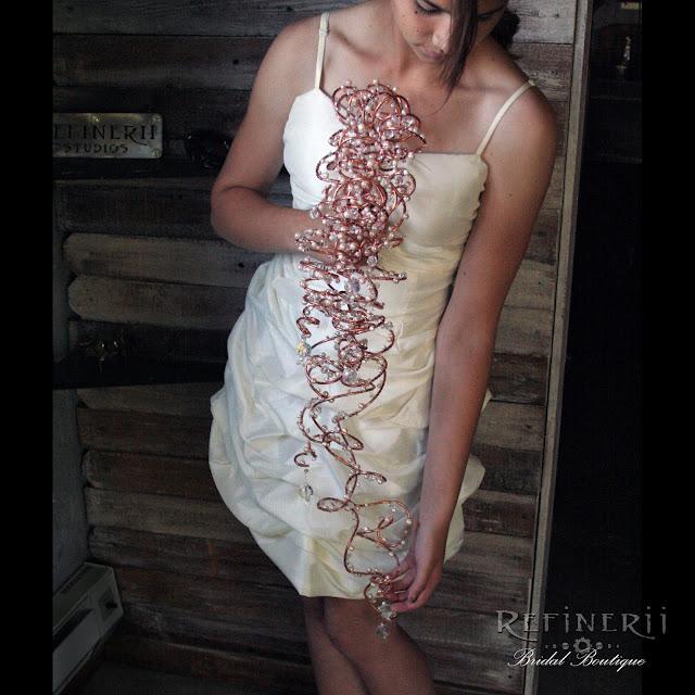 copper trailing wedding bouquet
