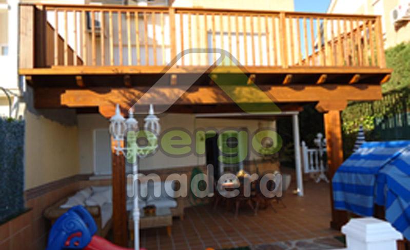 Pergomadera estructuras de madera terrazas deck - Estructuras de madera para terrazas ...