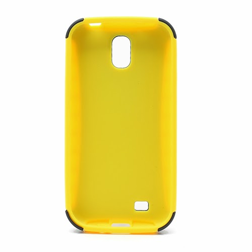 Tough Rugged TPU & PC Stand Hybrid Case for Samsung Galaxy S IV S4 i9500 i9502 i9505 - Black / Yellow