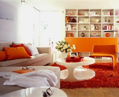 Decoraci n salas color naranja ideas para decorar - Combinar color naranja decoracion ...