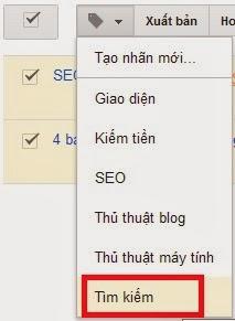 Hướng dẫn đổi tên nhãn trong Blogger