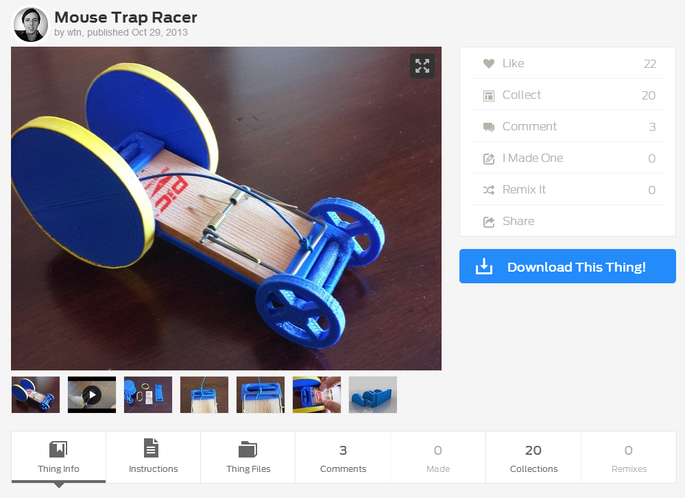 mousetrap racer report Mousetrap car instructions distance it's part mouse trap, part racing car the 4m mousetrap racer is great for learning about forces & motion and ships free to new england, nj, ny & pa.