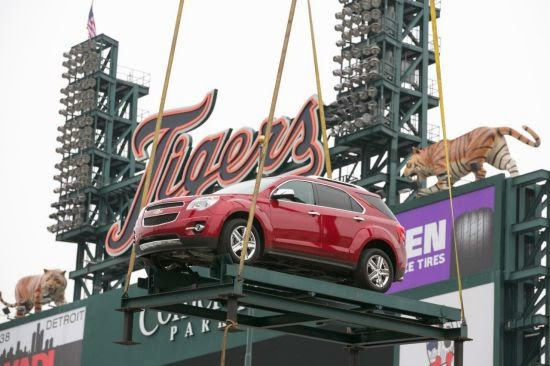 Chevrolet Silverado & Equinox Showcased at Comerica Park