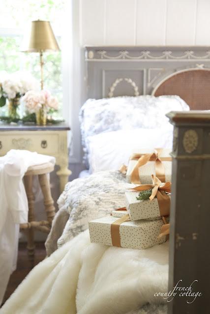 Christmas bedroom peek