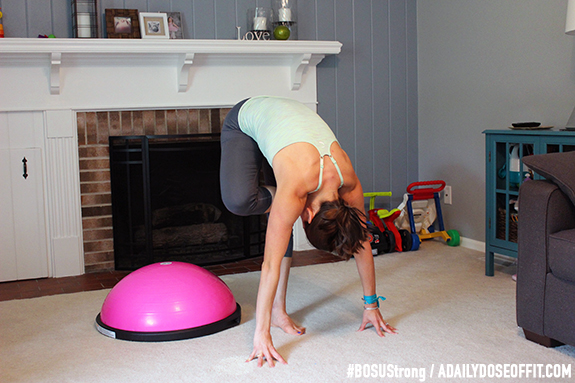 Leg Stretch, Stretching, BOSUStrong, Fit Approach, Sweat Pink, FitFluential