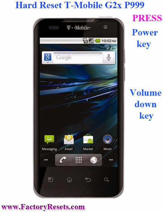 Hard Reset T-Mobile G2x P999