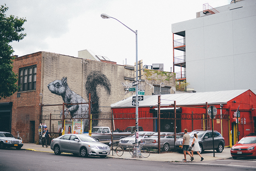 the petticoat new york diary photo williamsburg roa mural parking