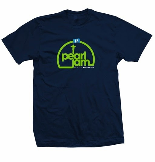"Pearl Jam x Seattle Seahawks ""12 Flag Needle"" T-Shirt"