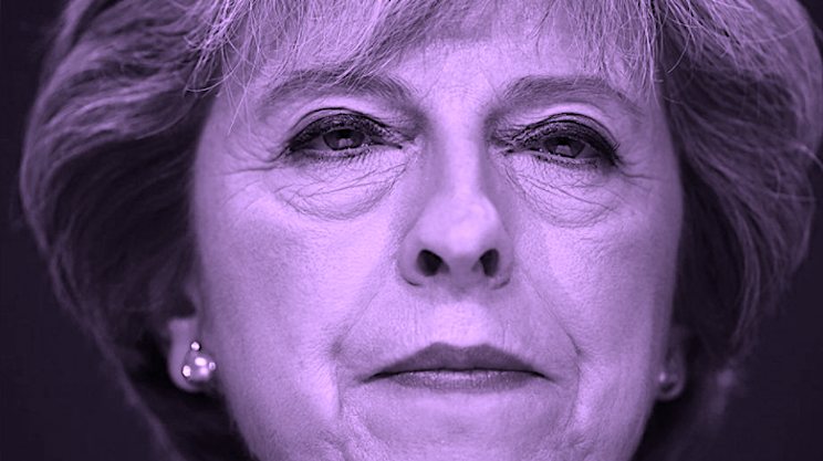 Jewess Theresa May - a Babylonian Whore panders to Her Satanic roots