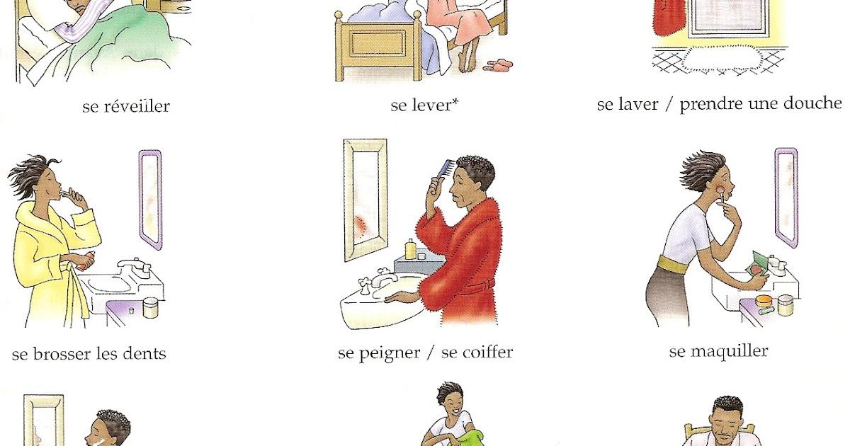 Bien connu Mon école FLE: Les verbes pronominaux WB02