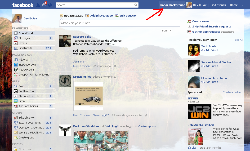 facebook background infobarrel with 1440x900px resolution