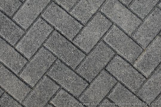 Herringbone blockwork, unsurprisingly, named after a fish photograph
