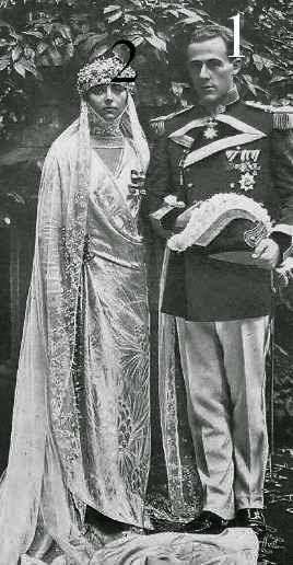 Mariage d'Egon zu Hohenlohe-Langenburg et de María de la Piedad Iturbe y Scholtz