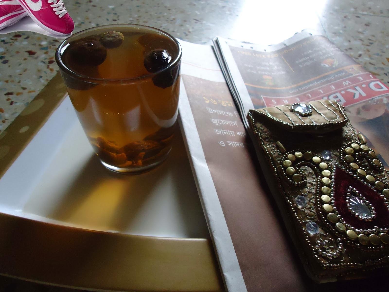 Triphala drink containing three seeds amloki, bahera and haritaki