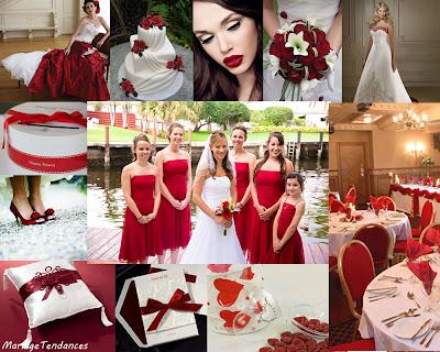 ... robes de soirée et décoration: Décoration mariage en rouge et blanc