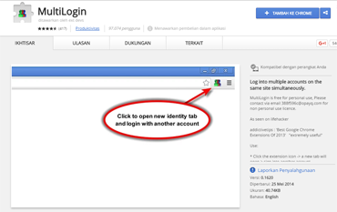 MultiLogin (untuk browser Google Chrome)