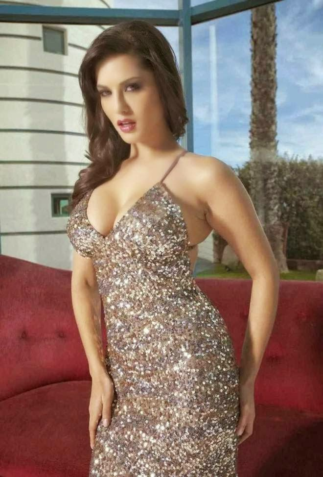 Sunny Leone Hot Wallpapers and Photos In White Gown Dress
