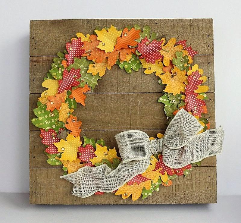 Hampton Art Blog Fall Wreath On Wood Plank Frame By