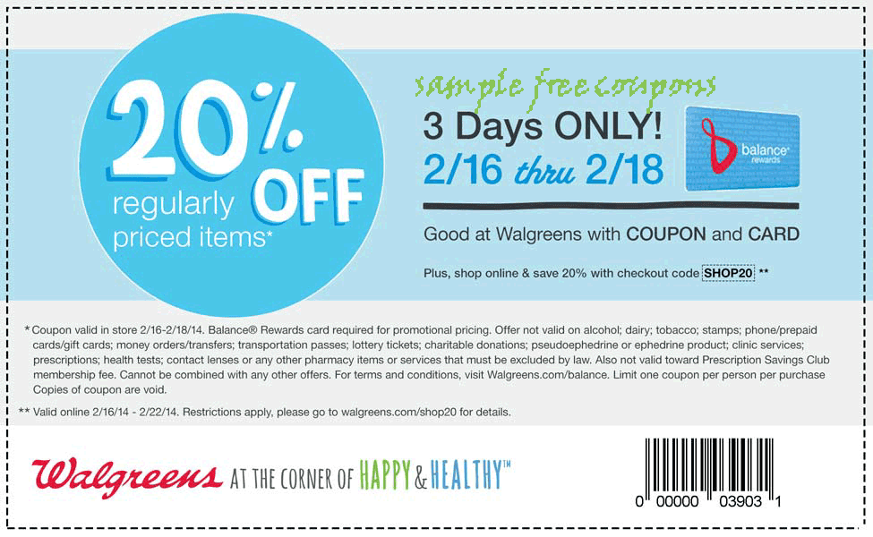 Walgreens has an incredible variety of health and home products, and is a convenient place to fill all of your prescriptions. Choose from coupons, promo codes and in-store printables for December. Walgreens is one of the country's most popular drug stores, but they're much more than just a pharmacy.