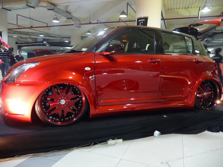 Japanese Custom Cars Candy Red Suzuki Swift