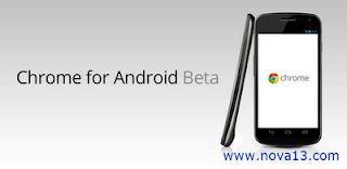 Google Chrome versi Beta untuk Android