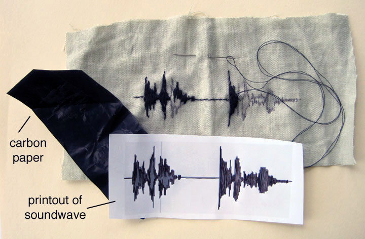 Stuff you can t have embroidered sound waves and upcycled shirt