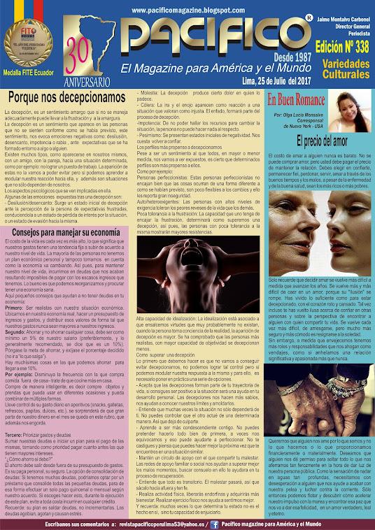 Revista Pacifico Nº 338 Variedades Culturales