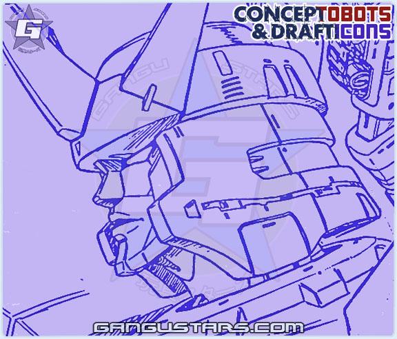 Galvatron Studio OX Transformers design sketch art スタジオOX トランスフォーマー タカラ