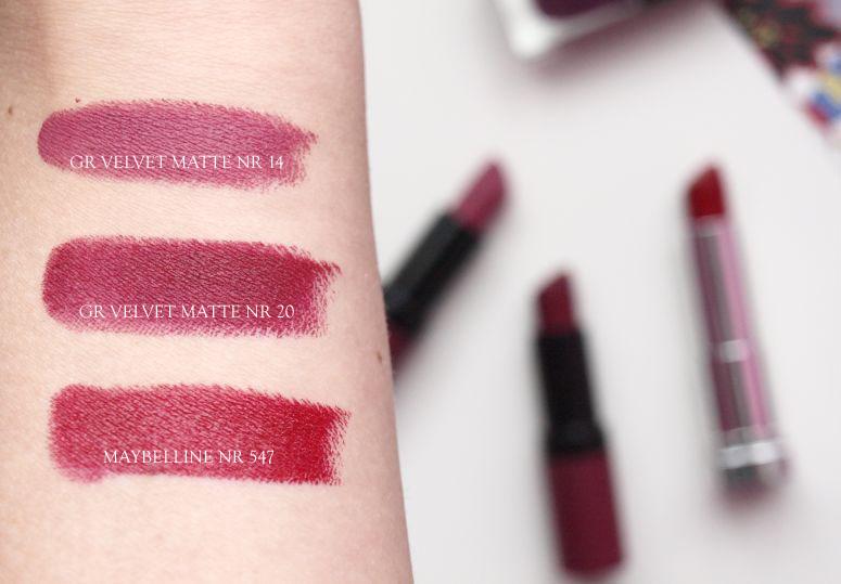 ulubione szminki na jesień: golden rose / maybelline