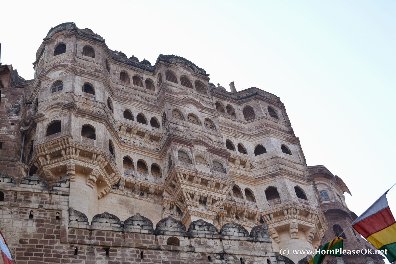 The first palace visible inside the Mehrangarh Fort complex
