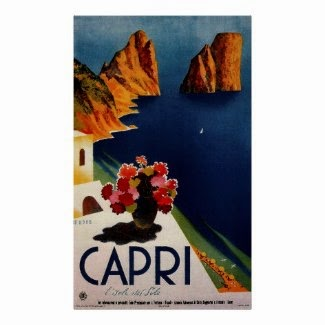 Vintage Capri French Travel Poster
