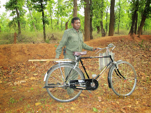 "RIPLEYS BELIEVE IT OR NOT ? Forest Guard on Cycle in ""Magdhi Zone"". !"
