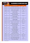 Calendário de Simulados 2013