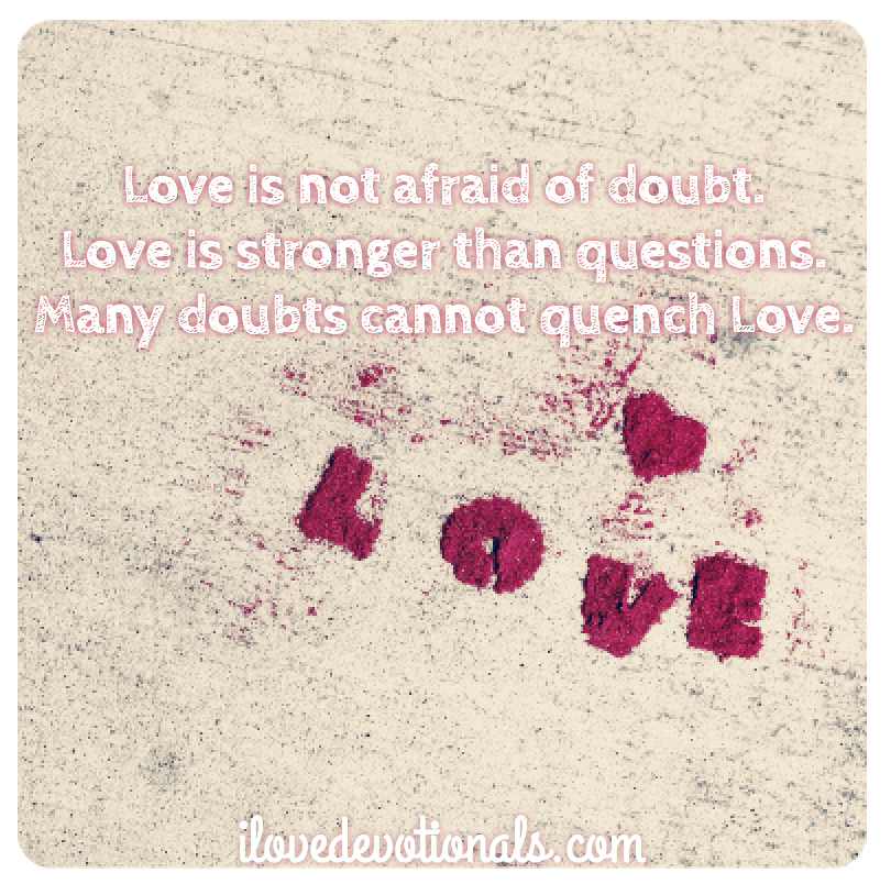 Love and doubt quotes