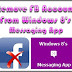 Remove Facebook Account From Windows 8 Messaging App