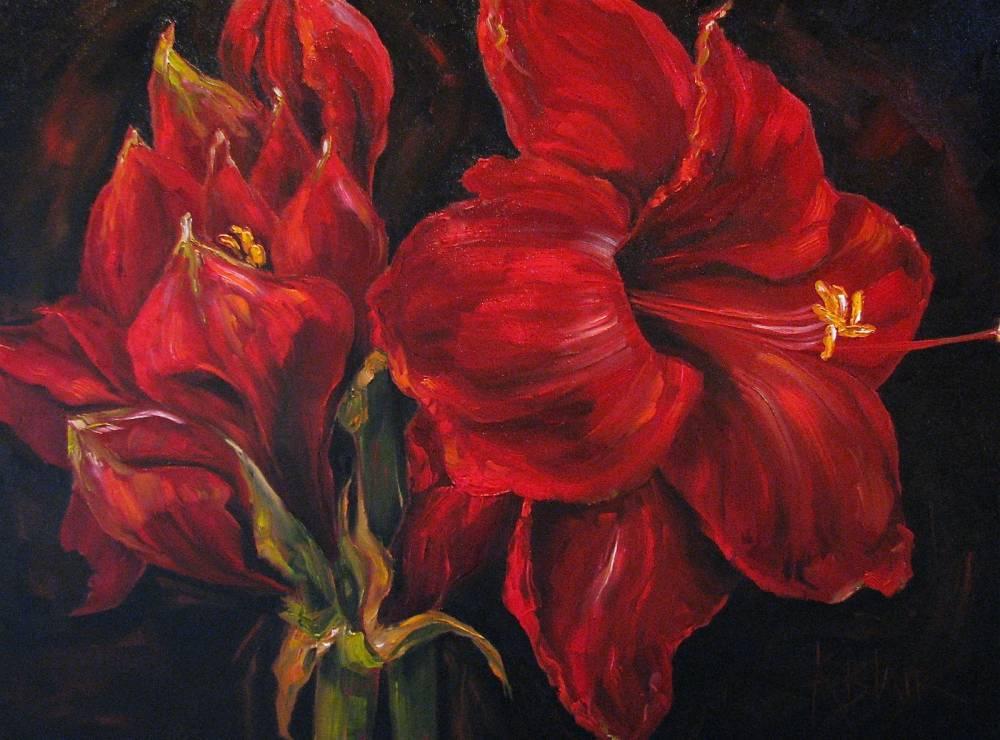 Kim Blair Black And Red Oil Painting Kim Blair