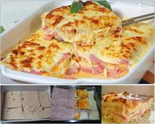 #receita de #lasanha de #pão de #forma