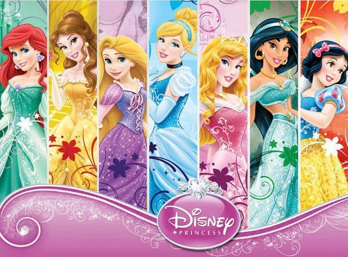 Tarjeta de Invitación Novedosa Princesas Disney Cumpleaños Ticket